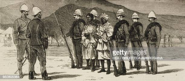Afghan prisoners Second AngloAfghan War illustration from the magazine The Graphic volume XIX no 489 April 12 1879