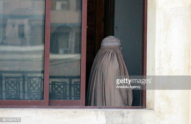 Afghan refugee woman Sharbat Gula is seen before a court hearing in Peshawar Pakistan on November 04 2016 The Afghan woman whose teenage portrait...