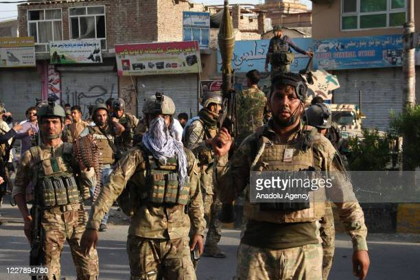 Afghan security forces conduct an operation to the Jalalabad prison, where a suicide car bombing followed by armed assault on the prison by five...