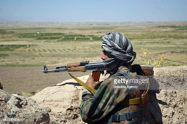 Afghan Security Forces deploy after clashes against Taliban Militants killed at least 39 people in Qaisar district of Faryab province Afghanistan on...