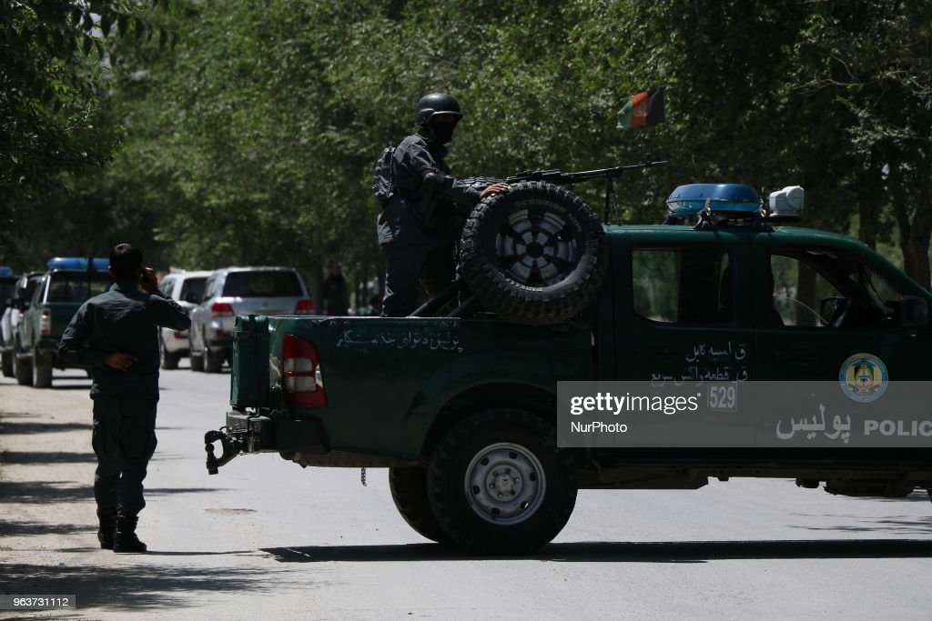 Attack In The Afghan Interior Ministry In Kabul : News Photo