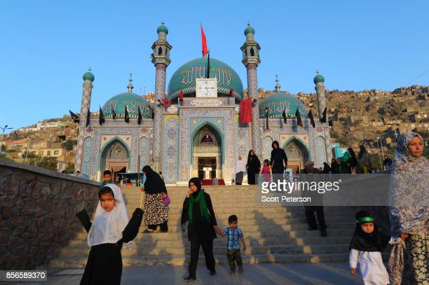 Sept 28: Afghan Shiite Muslim believers visit the Karte Sakhi shrine near Kabul University in preparation for Ashoura, one of the holiest days of the...