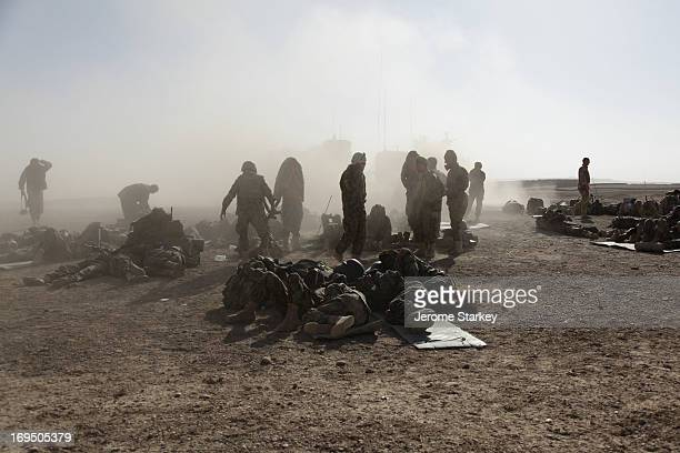Afghan soldiers on Karim Qalay hill, north east of Gereshk in Helmand Province, October 18, 2010. The troops were taking part in Operation Omid IV,...