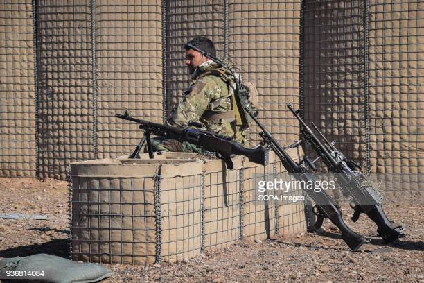 Afghan Special Forces soldier on a firing range just outside Shindand Military Base Afghanistans elite military forces the Commandos and the Special...