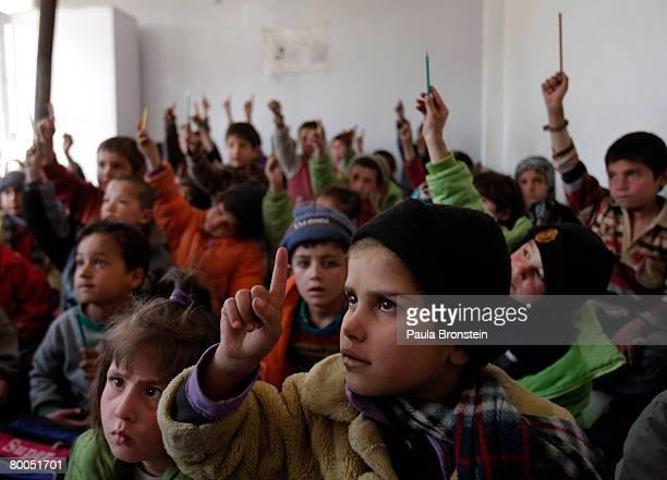 Afghan street children attend classes at the Aschiana school February 28 2008 in Kabul Afghanistan Aschiana schools assist thousands of children...