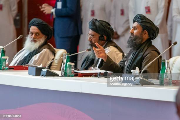 Afghan Taliban's deputy head Mullah Barada attends intra-Afghan peace talks between the Afghan government and Taliban insurgents commenced in the...