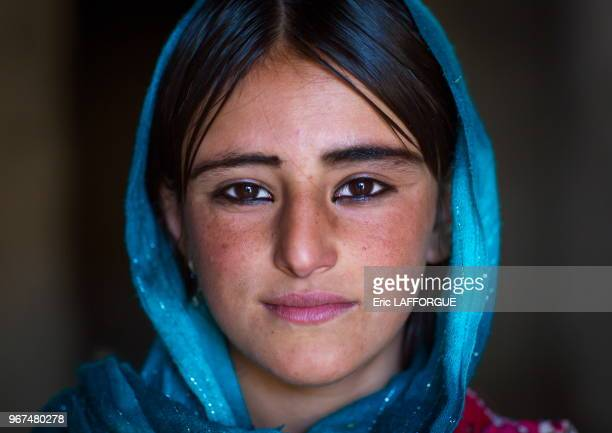 Afghan teenage girl with nice eyes Badakhshan province Khandood Afghanistan