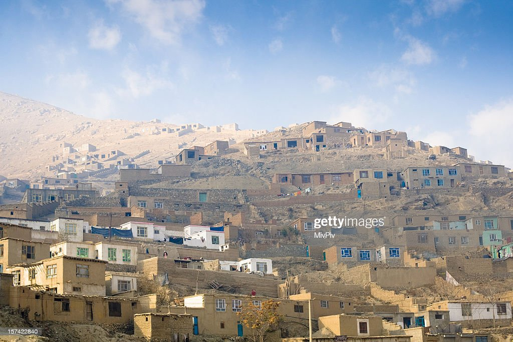 Afghan Village : Stockfoto