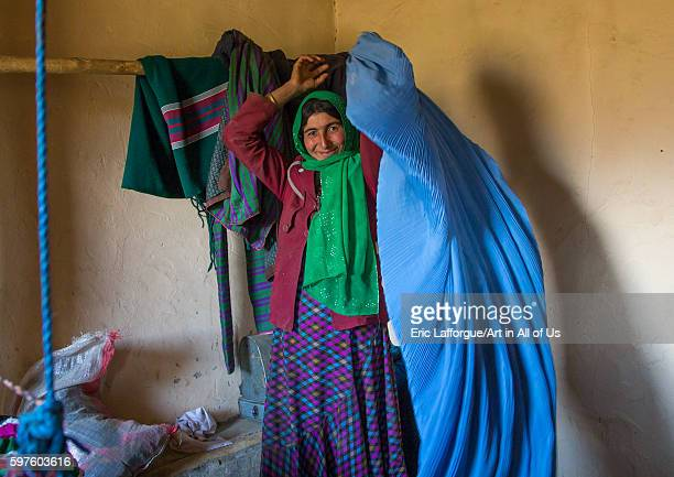 Afghan woman wearing a burka badakhshan province zebak Afghanistan on August 15 2016 in Zebak Afghanistan