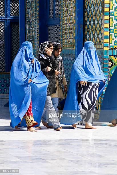 4 Afghan Women at the Blue Mosque in Mazar-e-Sharif, Afghanistan