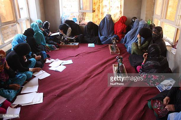 Afghan women learn to read and write at at a vocational training institute run by Afghan Women Affairs department in Kabul Afghanistan Since the...
