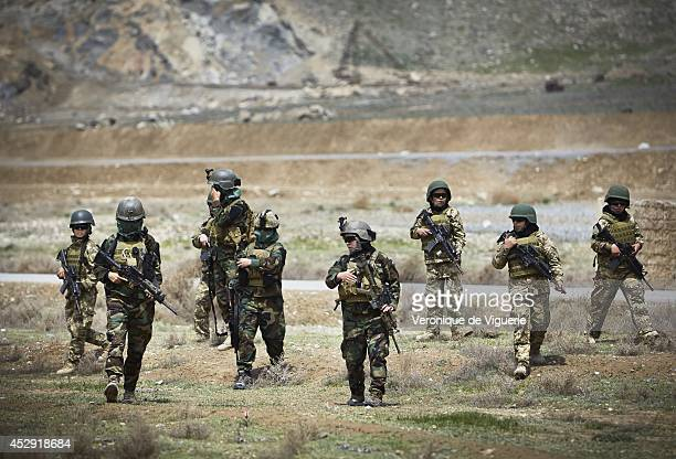 Afghan women on patrol at the Afghan Special Forces training camp in Kabul