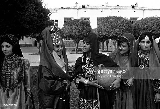 Afghani women in traditional dress in 1968