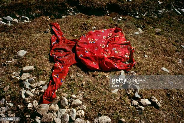 1991 Afghanistan A dress drying in the sun