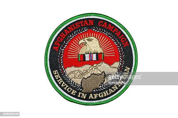 afghanistan campaign patch u.s. - us military emblems stock pictures, royalty-free photos & images