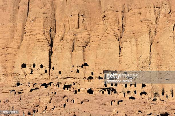 afghanistan cave houses - bamiyan stock pictures, royalty-free photos & images