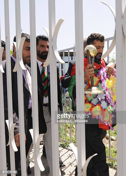 Afghanistan cricket team players arrive at Kabul airport on June 2 2008 Afghanistan and Jersey qualified on May 30 for the ICC World Cricket League...