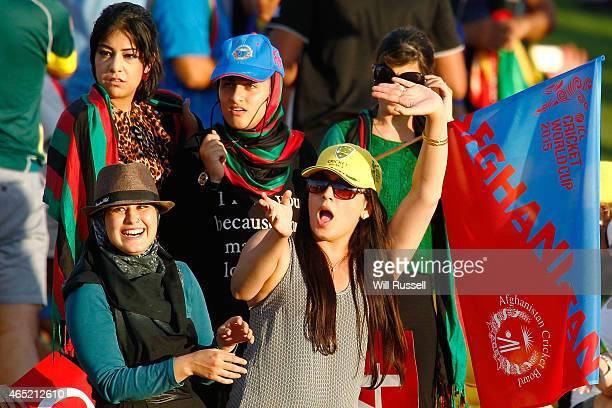 Afghanistan fans show their support during the 2015 ICC Cricket World Cup match between Australia and Afghanistan at WACA on March 4 2015 in Perth...