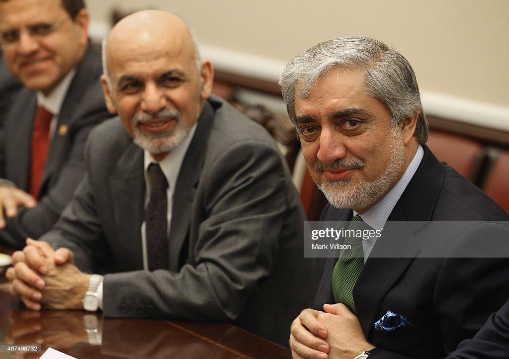 Afghanistan President Ashraf Ghani and Afghanistan Chief