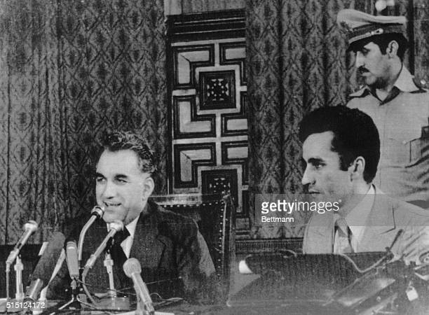 Afghanistan president Hafizullah Amin holds a press conference just days after overthrowing former president Nur Mohammad Taraki. Amin, who's leftist...