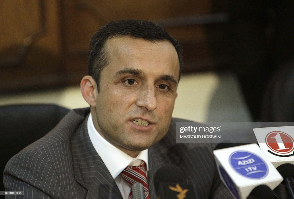 Afghanistan secret service chief Amrullah Saleh speaks during a press conference at the interior ministry in Kabul on June 6, 2010. Afghanistan's interior minister and secret service chief resigned after security failings at a 'peace jirga' in Kabul that came under militant attack, President Hamid Karzai's office said. The resignations came after Karzai called in the pair to account for a rocket attack by suspected Taliban rebels on the landmark meeting in Kabul last week intended to set out a plan for ending the insurgency. AFP PHOTO/Massoud HOSSAINI