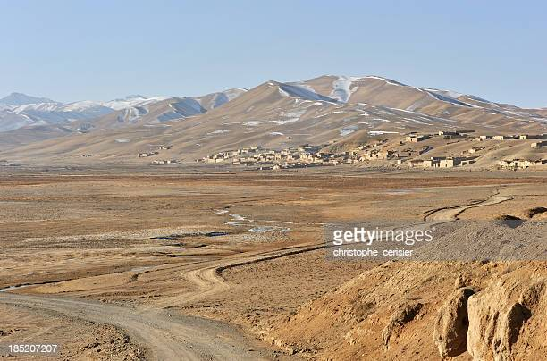 Afghanistan village in steppe