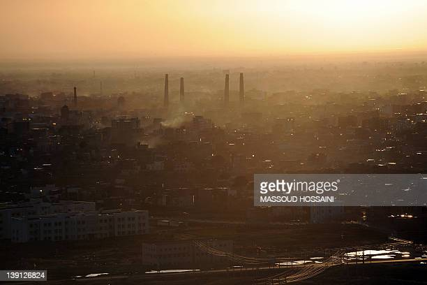 AfghanistanIranunresteconomyFOCUS by Claire Truscott This picture taken on February 5 2012 a general view of Herat near the Iranian border is...