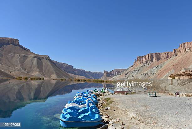AfghanistanunrestNATOBamyanFEATURE by Lawrence Bartlett Bande Amir lake is pictured on the outskirts of Bamiyan city on October 23 2012 In a...