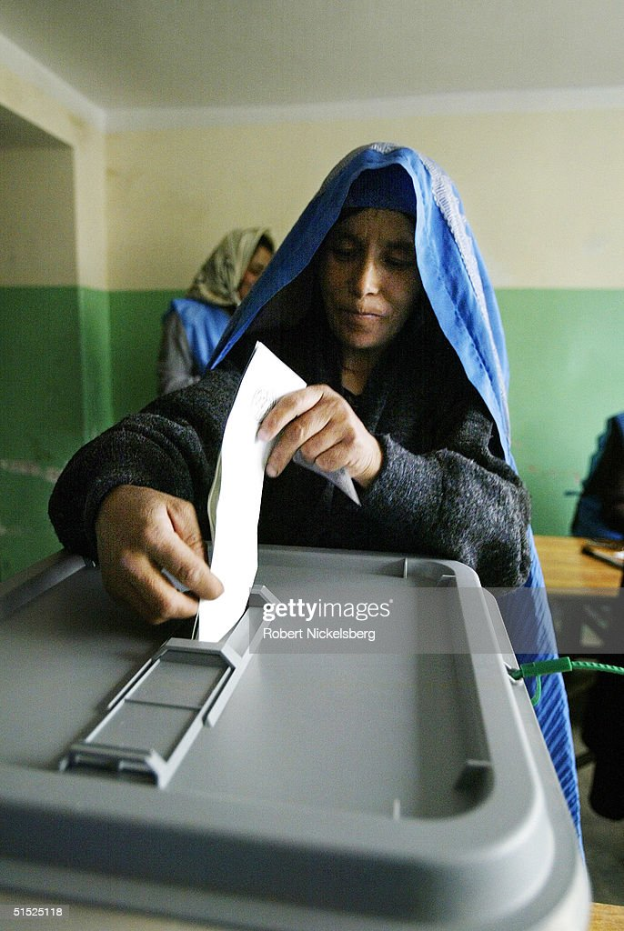 Afghanistan Goes To The Polls : News Photo