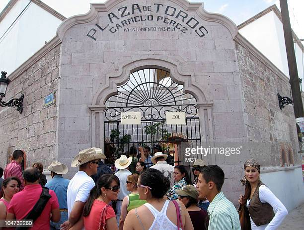 Aficionados wait in line outside the bullring in San Miguel El Alto a ranching town in Mexico's Jalisco state