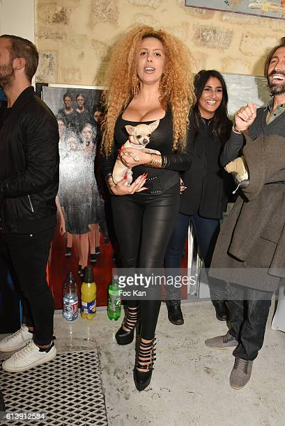 Afida Turner and Dog Iti attend ÇÊRencontre Et PartageÊÈ Entre Specialistes du 7 eme Art Hosted by AK2A AGENCY at Galerie Art Generation on October...
