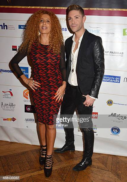 Afida Turner and Sam Zirah attend 'Les Sesames De L'Accessibilite Positive' Ceremony Dinner At the Hotel De Ville De Paris on November 4 2014 in...