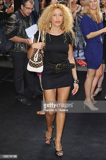 Afida Turner arrives to attend the Paris Premiere for the film 'Inception' at Gaumont Champs Elysees on July 10 2010 in Paris France