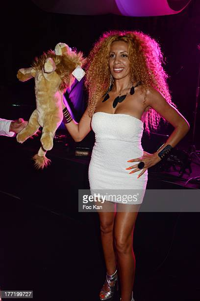 Afida Turner attends the Massimo Gargia's Birthday Dinner at Moulins de Ramatuelle on August 21 2013 in Saint Tropez France