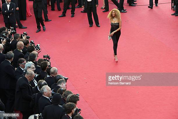 Afida Turner attends the 'Nebraska' premiere during The 66th Annual Cannes Film Festival at the Palais des Festival on May 23 2013 in Cannes France