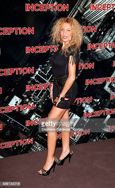 "Afida Turner attends the Premiere of ""Inception"" in Paris."