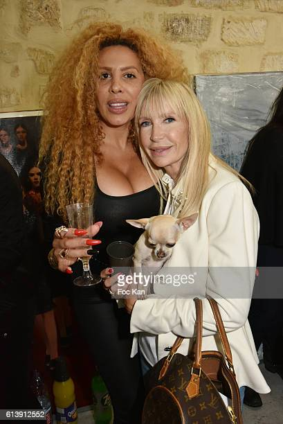 Afida Turner, TV presenter Patricia Charpentier and Dog Iti attend ÇÊRencontre Et PartageÊÈ Entre Specialistes du 7 eme Art Hosted by AK2A AGENCY at...
