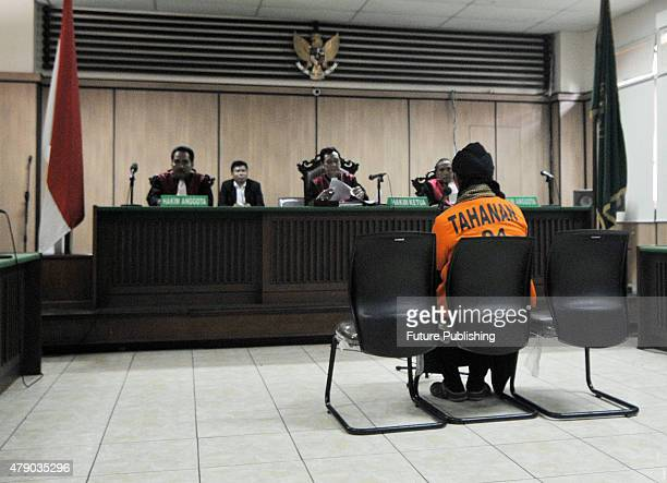 June 29: Afif Abdul Majid during his trial at a court on June 29, 2015 in Jakarta, Indonesia. An Indonesian court on June 29, jailed Afief Abdul...