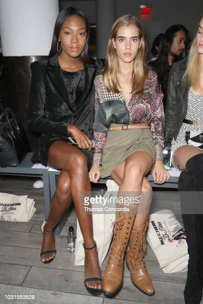 Afiya Bennett and Sif Saga attend as STYLE360 hosts Mery Playa by Sofia Resing sponsored by Skechers D'Lites on September 11 2018 in New York City