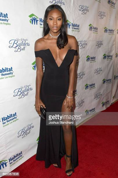 Afiya Bennett arrives at the Habitat LA 2017 Los Angeles Builders Ball at The Beverly Hilton Hotel on September 28 2017 in Beverly Hills California