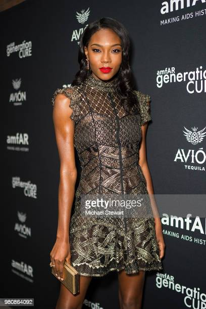 Afiya Bennett attends amfAR GenCure Solstice 2018 at SECOND on June 21 2018 in New York City