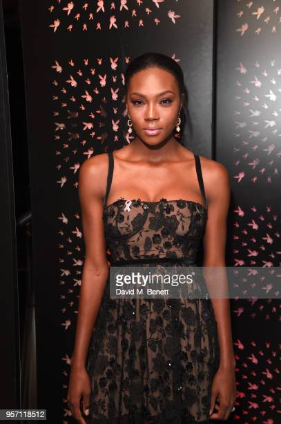 Afiya Bennett attends as Cooper Hefner hosts VIP party at Playboy Club London to celebrate Playboy's nomination at the British LGBT Awards on May 10...