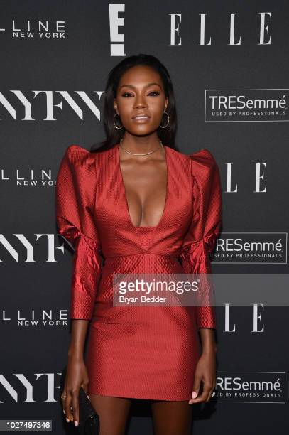 Afiya Bennett attends as E ELLE IMG celebrate the KickOff To NYFW The Shows at The Pool on September 5 2018 in New York City