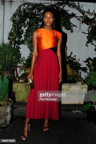 Afiya Bennett attends OWN With The Cinema Society Host A Party For Ava DuVernay And 'Queen Sugar' at Laduree Soho on May 20 2018 in New York City
