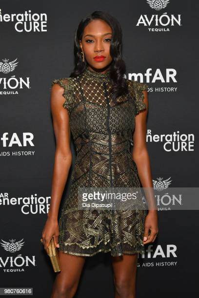Afiya Bennett attends the amfAR GenCure Solstice 2018 on June 21 2018 in New York City