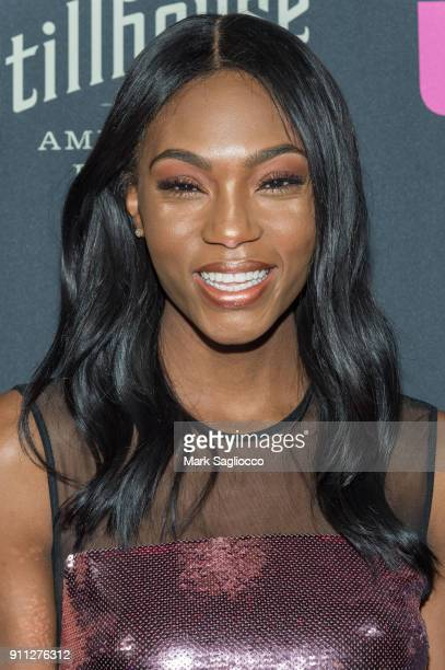 Afiya Bennett attends the John Varvatos SS'18 Ad Campaign Launch Party on January 27 2018 in New York City