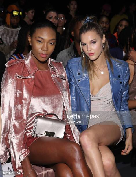 Afiya Bennett attends the LaQuan Smith fashion show during New York Fashion Week at Pier 59 on September 9 2018 in New York City