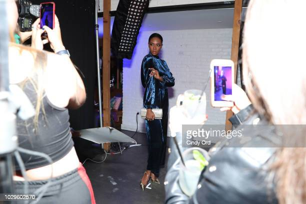 Afiya Bennett attends the Maybelline x New York Fashion Week XIX Party at Mr Purple at the Hotel Indigo LES on September 8 2018 in New York City