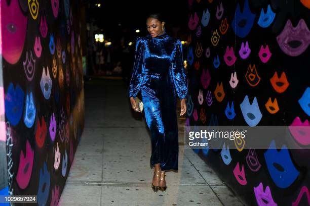 Afiya Bennett attends the Maybelline x New York Fashion Week XIX Party in the Lower East Side on September 8 2018 in New York City