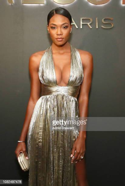 Afiya Bennett attends the MESSIKA Party NYC Fashion Week Spring/Summer 2019 Launch Of The Messika By Gigi Hadid New Collection at Milk Studios on...
